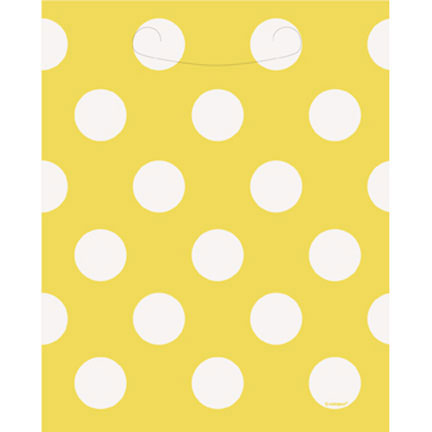 Click for larger picture of DISCONTINUED SUN YELLOW DOTS LOOTBAGS PARTY SUPPLIES