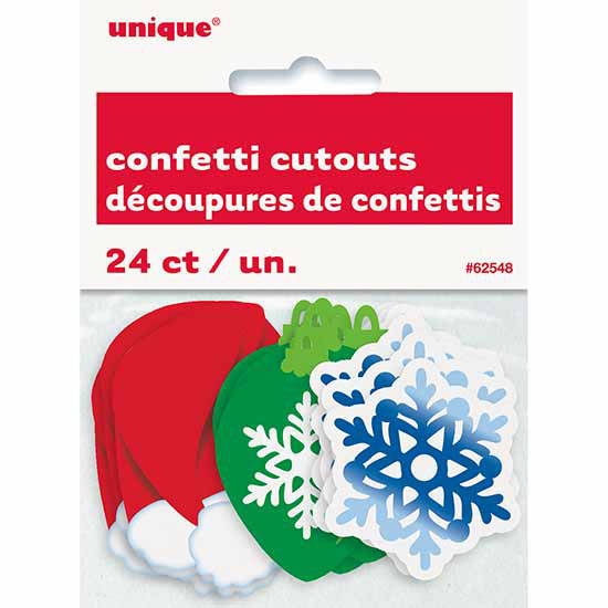 XMAS CONFETTI CUTOUT (288/CS) PARTY SUPPLIES