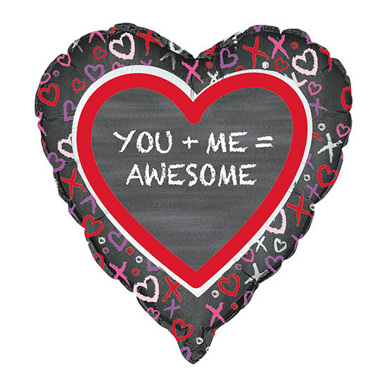 YOU & ME VALENTINE FOIL BALLOONS PARTY SUPPLIES