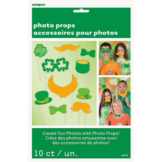 ST. PATS PHOTO PROPS (120/CS) PARTY SUPPLIES