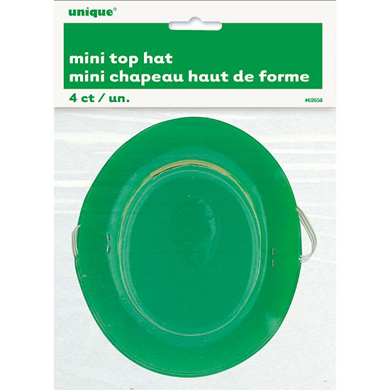 ST. PATS MINI TOP HAT (48/CS) PARTY SUPPLIES