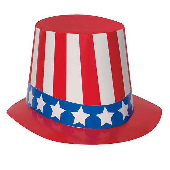PATRIOTIC TOP HATS (25/CS) PARTY SUPPLIES