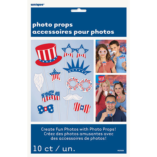 PATRIOTIC PHOTO PROPS (120/CS) PARTY SUPPLIES