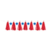 PATRIOTIC TASSEL GARLAND (12/CS) PARTY SUPPLIES