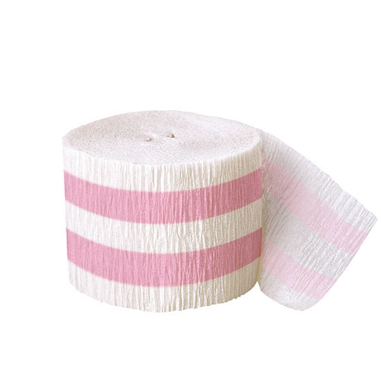 DISCONTINUED LOVELY PINK CREPE STR 30 FT PARTY SUPPLIES
