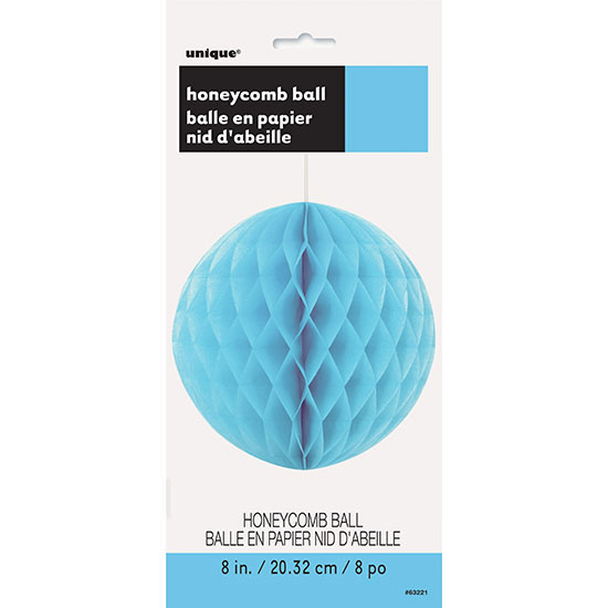 POWDER BLUE 8 IN. TISSUE BALL (12/CS) PARTY SUPPLIES