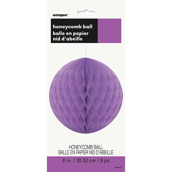PRETTY PURPLE 8 IN. TISSUE BALL (12/CS) PARTY SUPPLIES