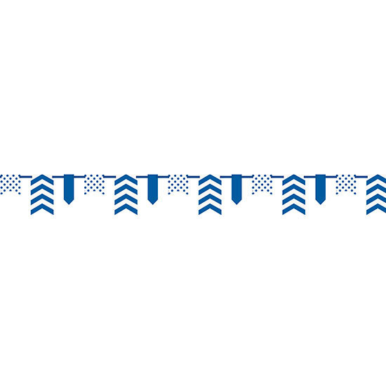 DISCONTINUED ROYAL BLUE DOT/STRIPE BNR PARTY SUPPLIES
