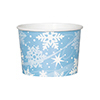 SNOWFLAKE ICE CREAM - TREAT CUP PARTY SUPPLIES