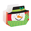 SNOWMAN FAVOR BOX (96/CS) PARTY SUPPLIES