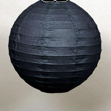 Click for larger picture of BLACK 10 INCH ROUND LANTERN PARTY SUPPLIES