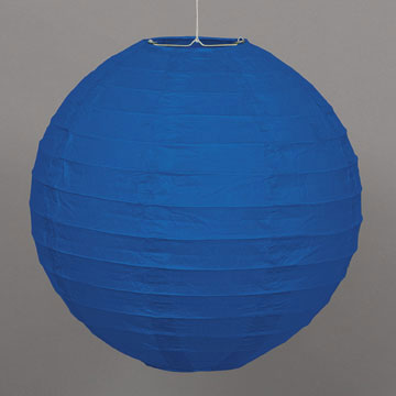 Click for larger picture of ROYAL BLUE 10IN ROUND LANTERN (12/CS) PARTY SUPPLIES