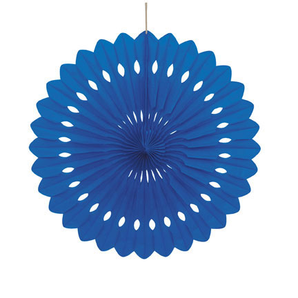 Click for larger picture of ROYAL BLUE 16IN DECORATIVE FAN (12/CS) PARTY SUPPLIES