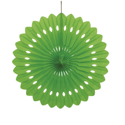 Click for larger picture of LIME GREEN 16IN DECORATIVE FAN (12/CS) PARTY SUPPLIES