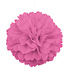 HOT PINK PUFF DECOR 16 INCH PARTY SUPPLIES