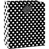 BLACK DOTS GIFTBAG-MED PARTY SUPPLIES