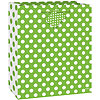LIME GREEN DOTS GIFTBAG-MED PARTY SUPPLIES