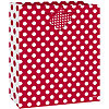 RUBY RED DOTS GIFTBAG-MED PARTY SUPPLIES