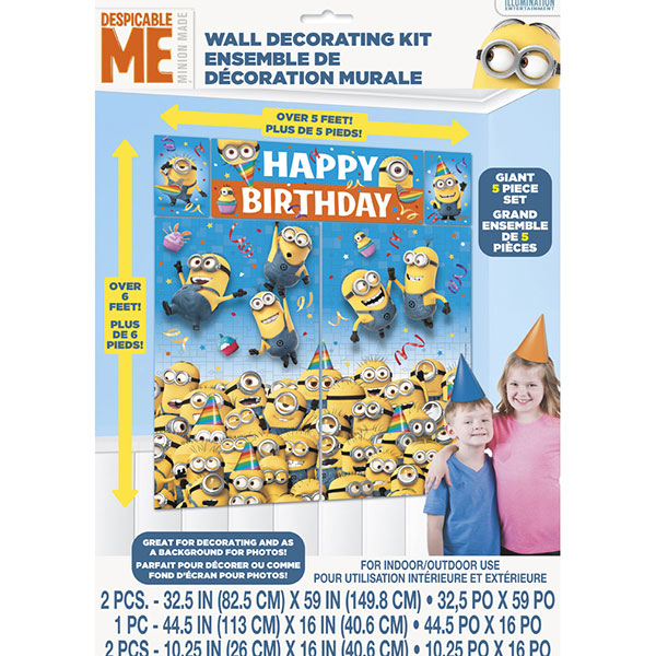 Click for larger picture of DESPICABLE ME WALL DECORATING KIT(60/CS) PARTY SUPPLIES