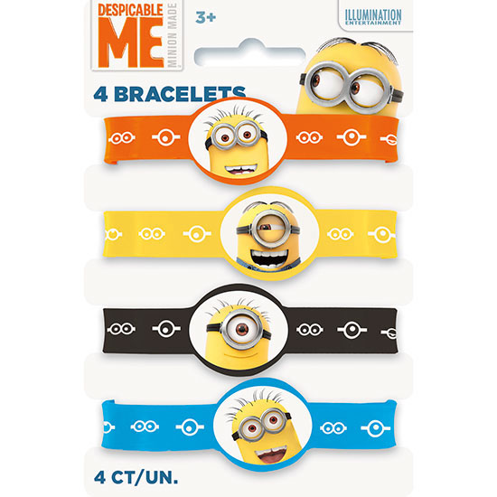 DESPICABLE ME 2 STRETCH BRACELET (48/CS) PARTY SUPPLIES