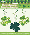 ARGYLE ST PATS HANGING SWIRL(36/CS) PARTY SUPPLIES