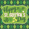 ARGYLE ST PATS LUNCH NAPKIN(192/CS) PARTY SUPPLIES