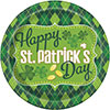 ARGYLE ST PATS DINNER PLATE(96/CS) PARTY SUPPLIES