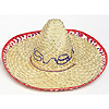 ADULT SOMBRERO W/CHECK TRIM (12/CS) PARTY SUPPLIES