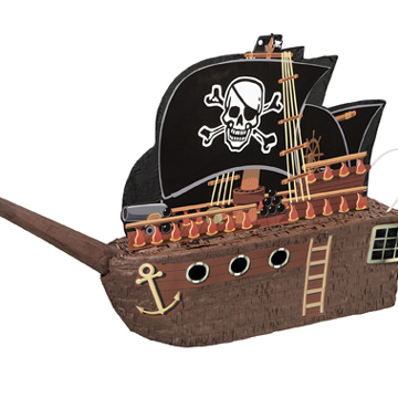 Click for larger picture of PINATA-PIRATE SHIP PARTY SUPPLIES