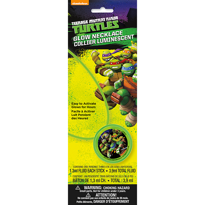 TEENAGE MUTANT TURTLES GLOW NECKLACE PARTY SUPPLIES