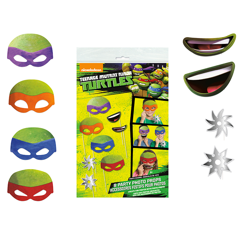 TEENAGE MNT TURTLES PHOTO PROPS (48/CS) PARTY SUPPLIES