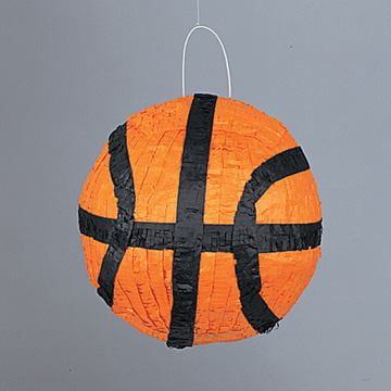 Click for larger picture of PINATA BASKETBALL (4/CS) PARTY SUPPLIES