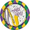 JAZZY MARDI GRAS DESSERT PLATE (96/CS) PARTY SUPPLIES