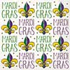 JAZZY MARDI GRAS LUNCH NAPKINS (192/CS) PARTY SUPPLIES