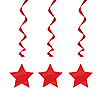 RED STAR HANGING DECORATION PARTY SUPPLIES