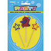 2 STAR CANDLE SET (12/CS) PARTY SUPPLIES