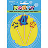 4 STAR CANDLE SET (12/CS) PARTY SUPPLIES