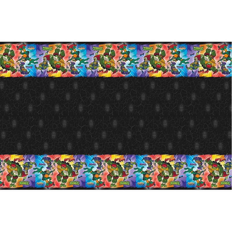 Click for larger picture of RISE TM TURTLES TABLECOVER (12/CS) PARTY SUPPLIES