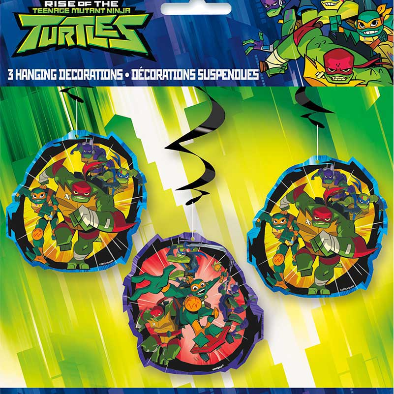 Click for larger picture of RISE TM TURTLES HANGING SWIRL (36/CS) PARTY SUPPLIES