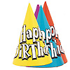 BIRTHDAY PARTY HATS SOLID COLOR (72/CS) PARTY SUPPLIES