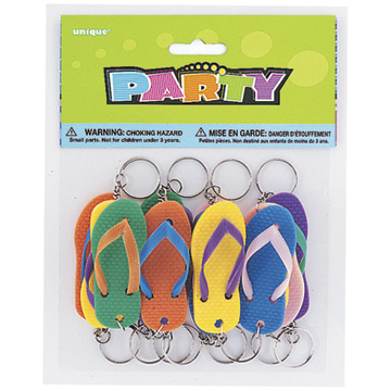 Click for larger picture of FLIP FLOP KEY CHAINS (144/CS) PARTY SUPPLIES