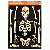 SKELETON GLASS CLINGS PARTY SUPPLIES