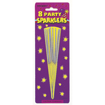 Click for larger picture of 7'' SPARKLERS (192/CS) PARTY SUPPLIES
