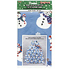 JUMBO XMAS SNWMAN PLASTIC GIFTBAG(12/CS) PARTY SUPPLIES