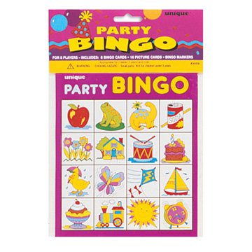 Click for larger picture of PARTY BINGO FOR 8 (12/CS) PARTY SUPPLIES