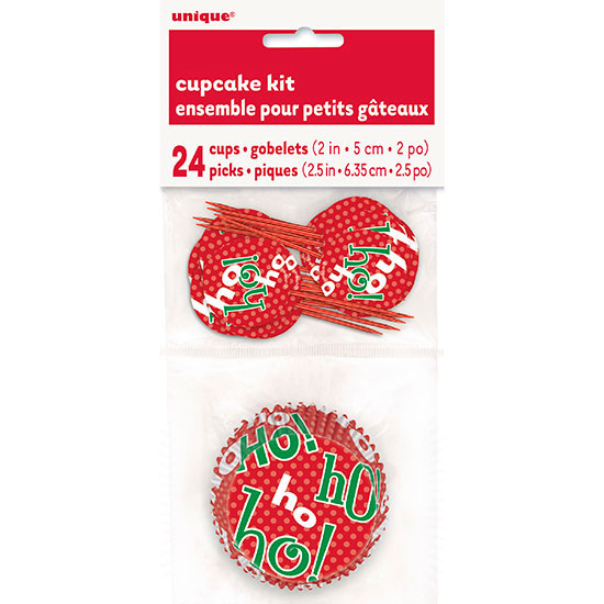 HO HO HO CUPCAKE KITS (288/CS) PARTY SUPPLIES