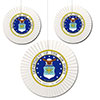 US AIR FORCE CLASSIC FAN DECORATIONS PARTY SUPPLIES