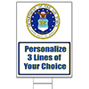 AIR FORCE CLASSIC PERSONALIZED YARD SIGN PARTY SUPPLIES