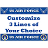 US AIR FORCE CUSTOMIZED PLACEMAT PARTY SUPPLIES