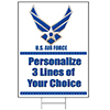 AIR FORCE PERSONALIZED YARD SIGN PARTY SUPPLIES